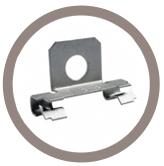 Adaptateur à monter en bords de panneaux pour support tube perpendiculaire