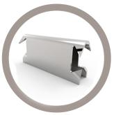 Agrafe Forme U/ Griffes de retenues extérieures