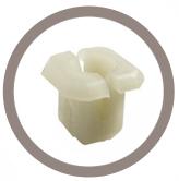 Ecrou plastique pour trou carré