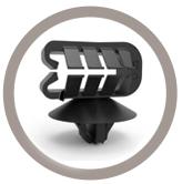 Support tube à clipper dans un trou à diamètre variable