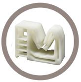 Support tube plastique sur goujon fileté
