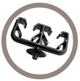 Support tube 2 voies à clipper dans un trou