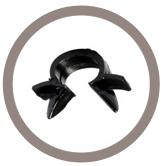 Support tube plastique 1 voie de type Omega