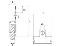 schéma Adaptateur support tube parallèle au panneau