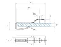 schéma Adaptateur support tube et/ou lanière Raymond