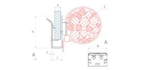 schéma Adaptateur bords de panneaux pour lanières Raymond