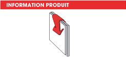info Agrafe bords de panneaux Forme U, simple griffe