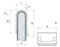 schéma Agrafe bords de panneaux Forme U, simple griffe