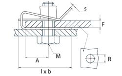 schéma Ecrou bord de tôle A Raymond