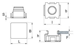 schéma Ecrou cage métal A Raymond