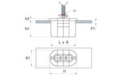 schéma Ecrou plastique pour trou oblong A Raymond