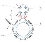 schéma lanières avec support tube pivotant Raymond
