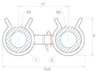 schéma support tube pivotant Raymond