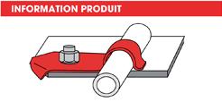 info Supports tubes à riveter ou à visser- Forme P