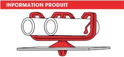 info supports tubes à clipper dans un trou double Raymond