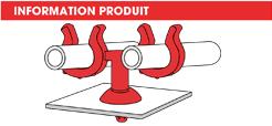 info support tube à clipper dans un trou double pivotant Raymond
