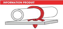 info Supports tubes à clipper dans un trou Omega Raymond