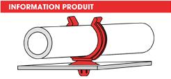 info supports tubes à clipper dans un trou simple Raymond