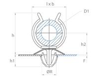 schéma supports tubes à clipper dans un trou simple Raymond