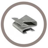 Agrafe bords de panneaux Forme S/ Double griffes