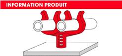 info Supports tubes sur goujons filetés double Raymond